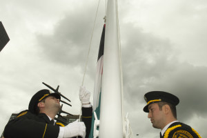 UN Guards Raise the Palestinian Flag at UNHQ on Sept. 30 (UN Photo)