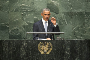 US President Barack Obama Addresses the General Assembly, Sept. 24, 2014