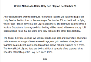 Statement from Holy See mission to the UN