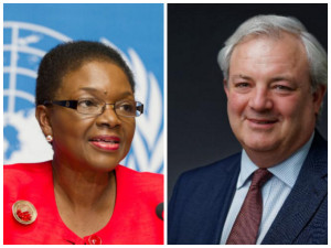 Ban appointed Stephen O'Brien (r) to replace Valerie Amos as UN aid coordinator.