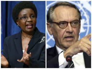 Asha Rose Migiro and the man Ban Ki-moon appinted as her successor, Jan Eliasson